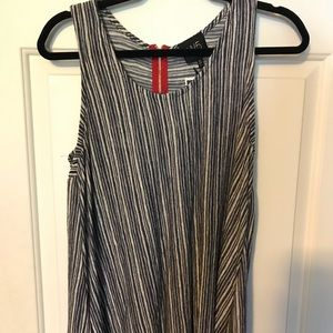 anthropology navy and cream striped w5 tank top